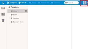 """Gå til """"user account settings"""" (øverst til højre i menuen - se billede 2)"""